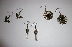 Lot de 3 paires de boucles d'oreilles sur le thème d'Halloween : Boucles…