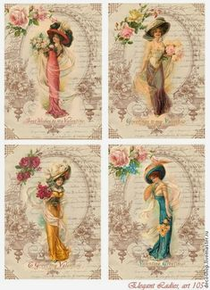 Elegant Vintage Ladies Printable