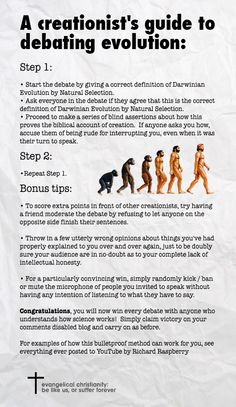 A creationist's guide to debating evolution, AKA the Bill O'Reilly interview method.