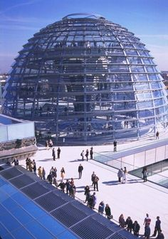 The Plenary Building in the Converted Reichstag, Berlin, 1999 - Foster + Partners