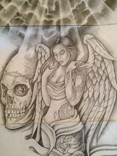 Art Chicano, Chicano Drawings, Sexy Drawings, Art Drawings, Skull Tattoo Design, Tattoo Designs, Tattoo Sketches, Tattoo Drawings, Art Du Joker