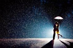 KISS IN THE RAIN! ♥ This will happen!:)