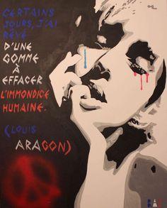 Depuis hier, l'art rend hommage à à Paris et aux victimes des tragiques attentats du 13 novembre 2015. Après les nombreux dessins en provenance du mo