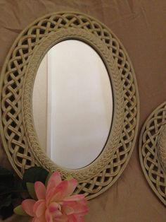 Shabby chic set of cream mirrors. $40.00, via Etsy. www.etsy.com/shop/shabbyciccalifinds cream mirror