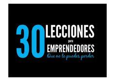 30 lecciones para emprendedores