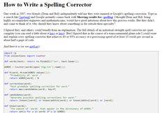 How to #Write a #Spelling Corrector (norvig.com) >> http://stfi.re/yrynkvg #Python #Programming Fun