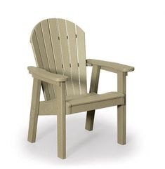 Finch Great Bay Poly Chair A popular poly chair, built with recycled plastics. An eco friendly choice. Available in a variety of colors and ultra comfy to boot. #polychair #outdoorchairs