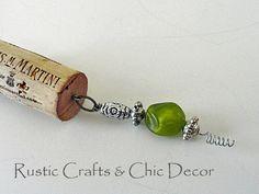 wine cork keychain craft