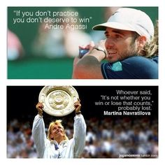 Andre And Martina; Tennis Pros
