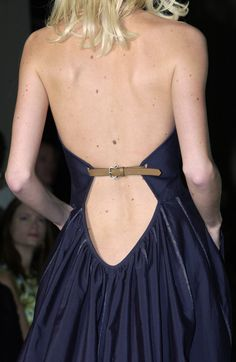 I'm digging the belt accent and the gathering in that drop... but imo, that is wayyy too low! From Bottega Veneta