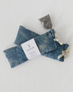 f957ccc02c4f Relaxation eye bag Indigo dyed Organic flax seeds Linen eye