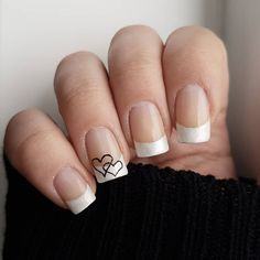 Domi Králiková (@domi_nailart) Casual🖤💅 #casual #casualnails #simplenails #naturalnails #heartnails #frenchmanicure #heart #heartnails #valentinenails #valentinedesign #love #lovenailart #romanticnailart #hearts #pinit #pinteresting #nailfashion #nailstyle #nailart #nailarttips #tipsfornails #naturalnails #avon