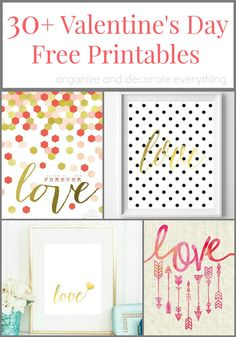 30+ Valentine's Day Printables to Decorate Your Home