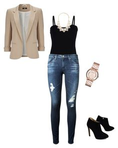"""""""Office Casual IV"""" by destineestarkphotography on Polyvore featuring Baguette....., AG Adriano Goldschmied, Wallis, Giuseppe Zanotti, Marc by Marc Jacobs and Forever 21"""