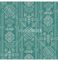 Tribal mexican vintage ethnic seamless pattern vector  by transia on VectorStock®