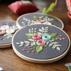 Plants Embroidery Kit For Beginner - modern hand embroidery patterns - Hand Embroidery Kit - DIY Embroidery Kit - Digital English Guide Diy Embroidery Flowers, Diy Embroidery Kit, Hand Embroidery Flowers, Modern Embroidery, Embroidery For Beginners, Hand Embroidery Patterns, Embroidery Designs, Embroidery Thread, Cross Stitch Fabric