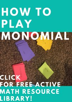 How to play monomial | https://themathmentors.mykajabi.com/p/monomial | our students give it a 10/10 | Math Games | Math Activity |