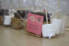 Smores party favors