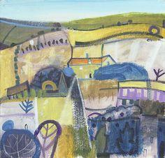 Limited Edition Print  Carol Saunderson - Blue Village