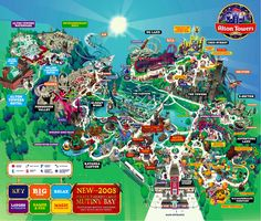 Alton Towers Theme Park Map - I cannot believe the amazing coasters in this park! Alton Towers Rides, Theme Park Map, Orlando Map, Disney World Map, Attraction, Planet Coaster, Tourist Map, Disney Rides, Map Design