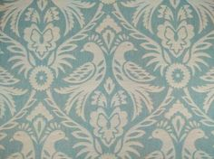 Clarke & Clarke Harewood duck egg curtain fabric<br />We recommend a sample of this fabric if colour is important to you as colours on different screens may vary.
