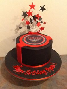 Essendon Football Club Cake for a birthday party or grand final game day.