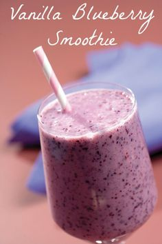 The book Skinny Smoothies is filled with 101 delicious recipes to help keep you fit and healthy. Try out the Vanilla Blueberry recipe I have posted here.