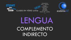 El Complemento Indirecto - Análisis sintáctico Lengua Española sintaxis ...