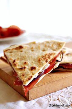 PIADINA FATTA IN CASA CON MELANZANE GRIGLIATE E BRESAOLA per rimanere leggeri  #piadina #homemadefood #melanzane #bresaola