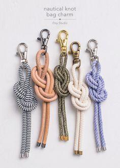DIY. nautical knot bag charm