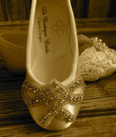 Custom Ballet Style Flower Girl (The Ava) Shoes Satin by LaBoutiqueBride, $62.00
