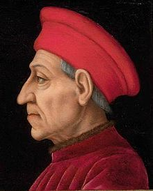 September 27, 1389: Born, Cosimo de' Medici. The founder of the Medici political dynasty, he did not hold political office himself, but controlled Florence's rule through his vast wealth. (In today's American dollars, he would have been worth about $ 30 million.) He was also a noted patron of the arts, sponsoring such artists as Fra Angelico, Fra Filippo, Brunelleschi, and Donatello.