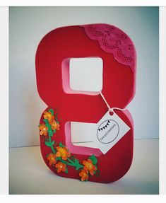 Elena theme party paper mache number for Cake by TancysCreations