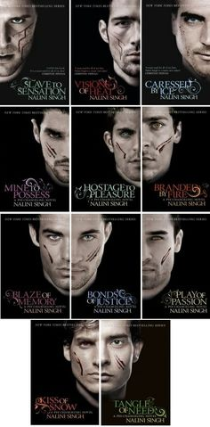 Psy-Changeling series by Nalini Singh - Kiss of Snow is my probably my current favourite.<< my favourite at the moment would be Mine to possess :) Novels To Read, Best Books To Read, I Love Books, Good Books, My Books, Alpha Male Books, Nalini Singh, Fantasy Books, Fantasy Series