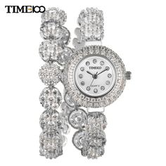 Luxury Elegent Diamonds Quartz Womens Bracelet Watch -- More info could be found at the image url. Diamond Quartz, Luxury Watches, Fashion Watches, Fashion Bracelets, Bracelet Watch, Jewels, Stuff To Buy, Accessories, Note