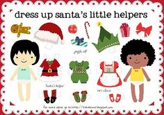 Free printable Christmas paper dolls. Our kids love these!