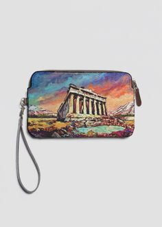 VIDA Leather Statement Clutch - Colorful Greece Clutch by VIDA VJk3baKg