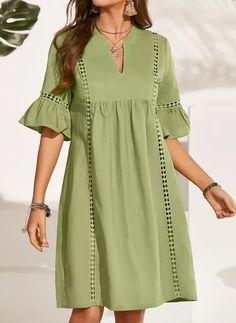 Stylish Dress Designs, Stylish Dresses, Simple Dresses, Sexy Dresses, Casual Dresses, Fashion Dresses, Dress Shirts For Women, Summer Dresses For Women, Over 50 Womens Fashion