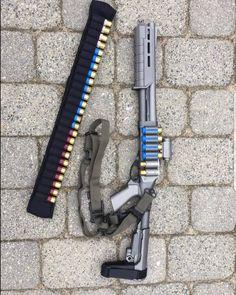 Some badassery courtesy of and Military Weapons, Weapons Guns, Airsoft Guns, Guns And Ammo, Tactical Shotgun, Tactical Gear, Firearms, Shotguns, Ar Pistol