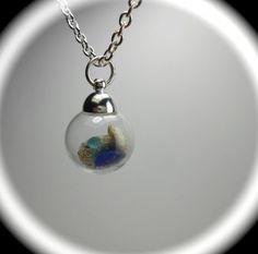 Sea Glass Jewelry - Beach Glass Necklace - BEACH BUBBLES