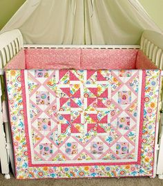 Just look at this adorable quilt made from Nancy Halvorsen's Curiosities line!