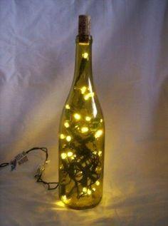 upcycling wine bottles.