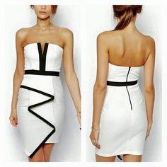 Slim Fit Dresses, Style Snaps, Love Her Style, Skirt Fashion, Strapless Dress, Backless, Contour, Wave, Sexy