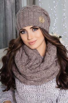 Комплект «Лисет» (шапка и шарф-снуд)
