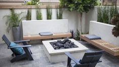 Landscape Design Ideas and Pictures of Orange County Landscapes. Finished Landscape Project Gallery of concrete patios, exotic backyards & custom fire pits. Small Yard Landscaping, Backyard Patio Designs, Modern Backyard, Modern Landscaping, Patio Ideas, Modern Patio Design, Small Patio Design, Landscape Design, Garden Design