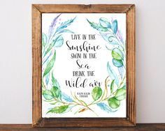 Ralph Waldo Emerson Emerson quote Live in the by AdornMyWall