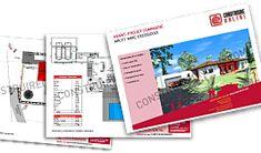 Plan de maison moderne TEMPLATE Village House Design, Village Houses, Modern House Plans, Modern House Design, Door Design, Exterior Design, Best Investments, Florida Home, Metal Furniture