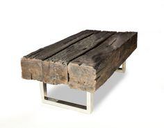 """Oak Coffee Table """"Old Joist"""" - Reclaimed Wood"""