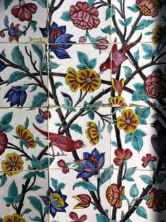 Iran Shiraz. The floral tiles are reminiscent of those in Golestan Palace. Golestan means Rose Garden.