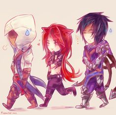 Kat and Talon meet Connor! LOL & LoL meets Assasin's Creed 3.  | League of Legends